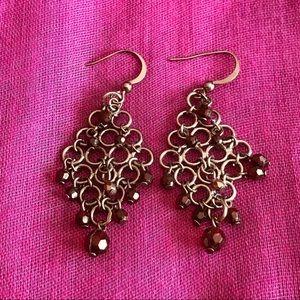 """""""3 x $15 jewelry deal"""" Garnett / silver earrings"""